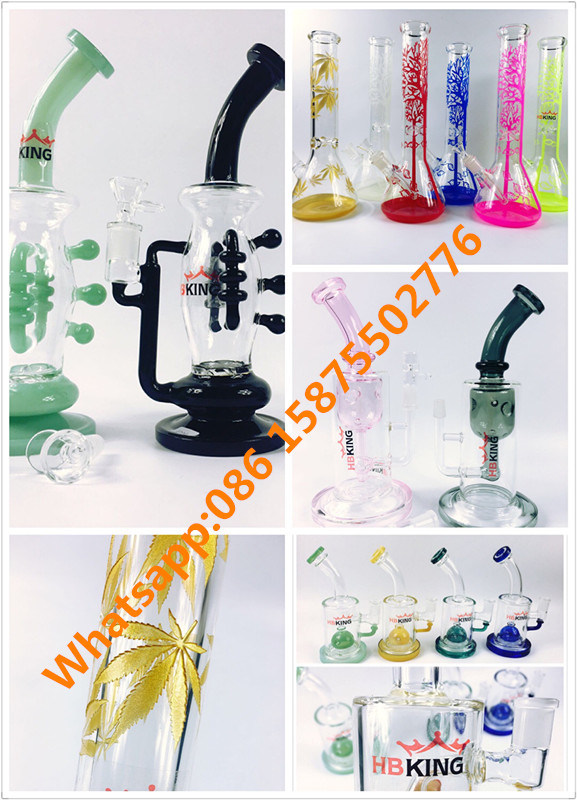 2017 Hbking New Model Borosilicate Smoking Pipe Colorful Glass Hookah