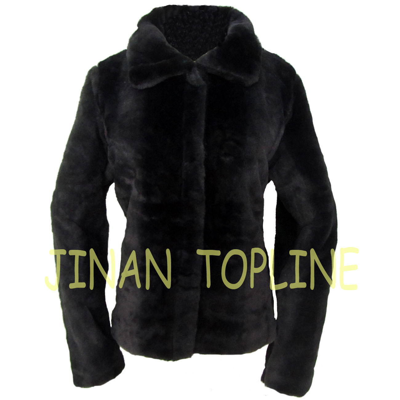 Women Faux Fur Fake Fur Coat with Front Buttons