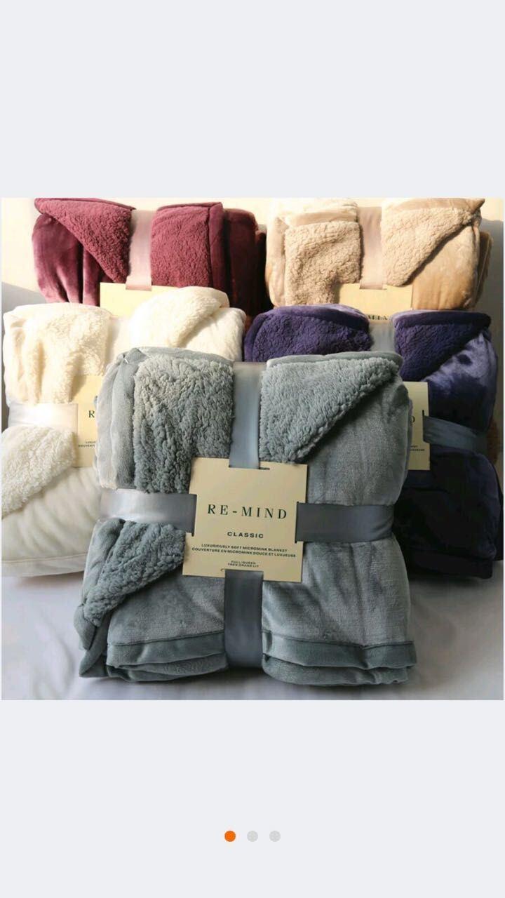 Winter Blanket Sr-B170228-7 Solid Flannel with Sherpa Backside Blanket