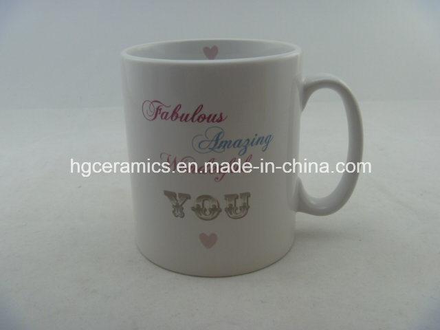 10oz Decal Printed Mug, 10oz Durham Mug, Promotional Ceramic Mug