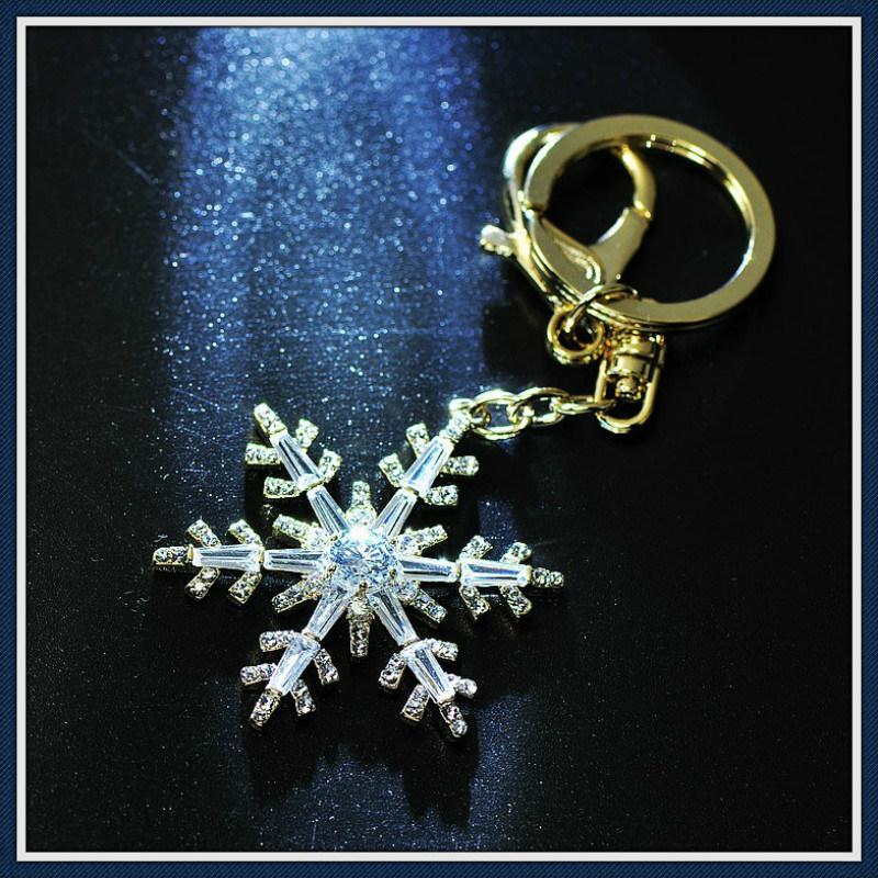 New Design Flower Glass Stones Fashion Jewelry Key Chain