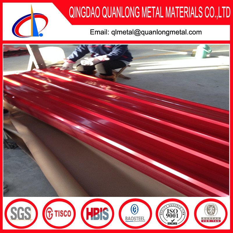 SGCC PPGI Prepainted Steel Corrugated Roofing Sheet