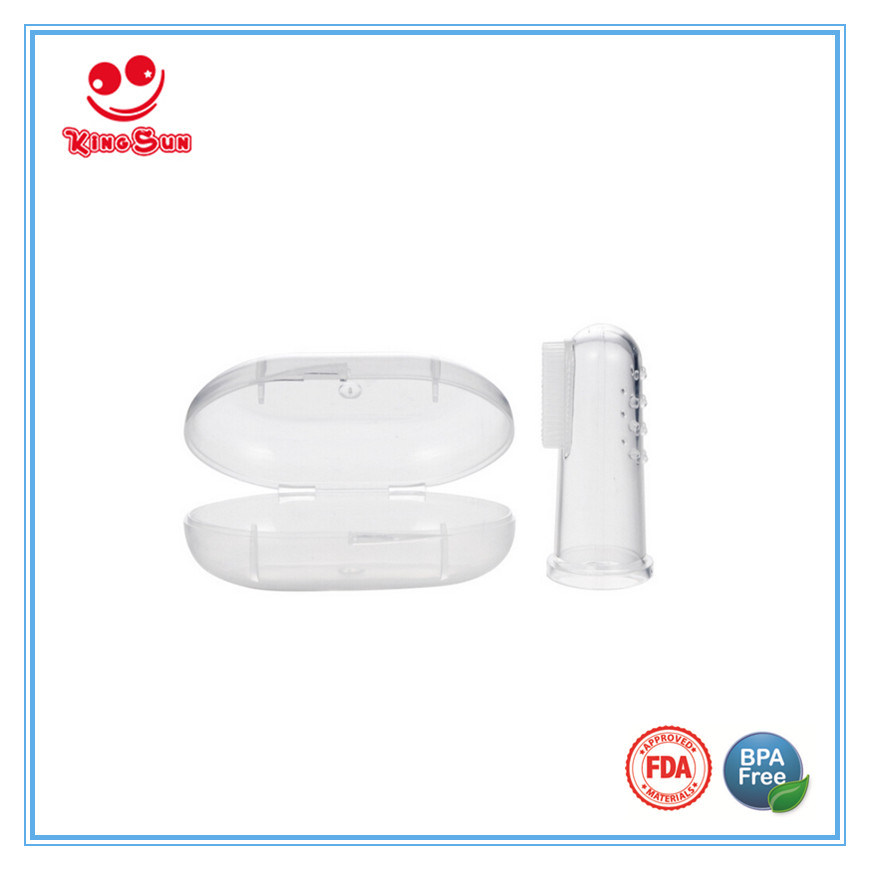 Food Grade Silicone Finger Toothbrush for Baby