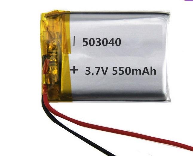 503040 550mAh 3.7V Li Ion Polymer Battery