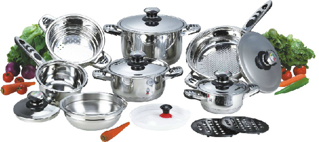 High Quality 16PCS Stainless Steel Cookware Set (CS116001)