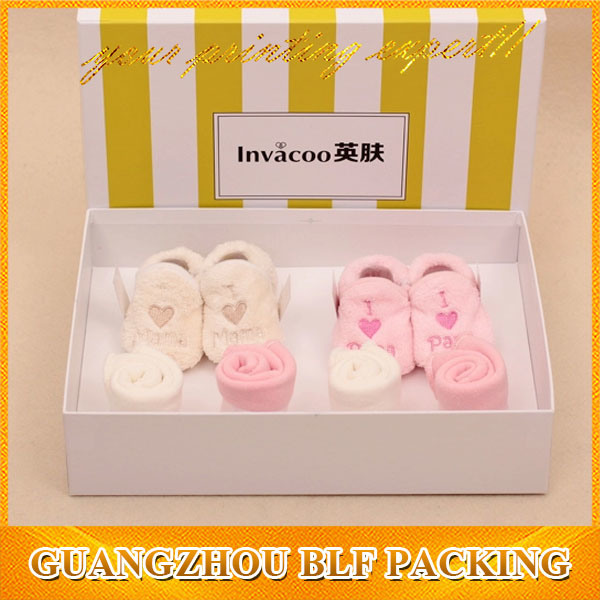 Color Printing Cute Baby Shoe Box Packaging
