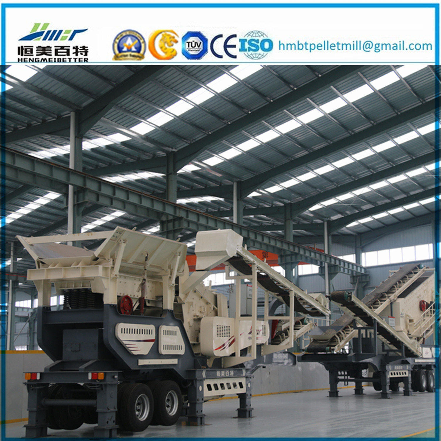 Construction Waste Stone Impact Crusher Mobile Plant