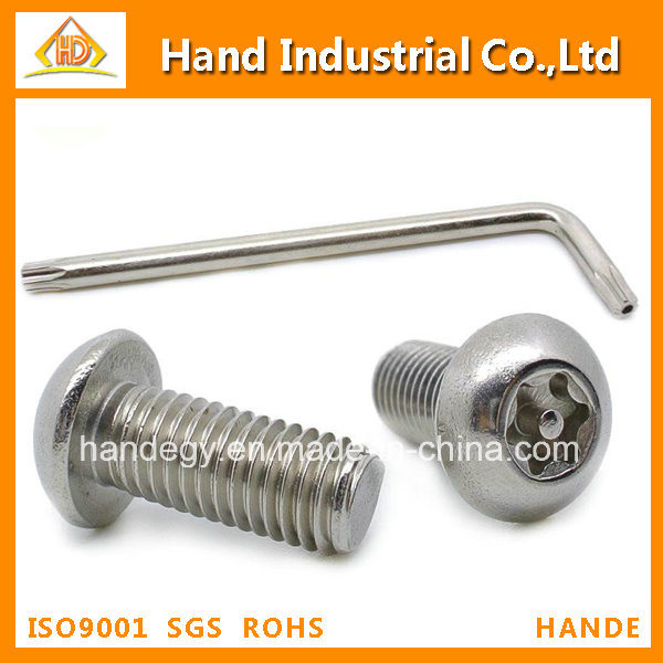Stainless Steel Screw Torx with Pin Button Head Security Screws
