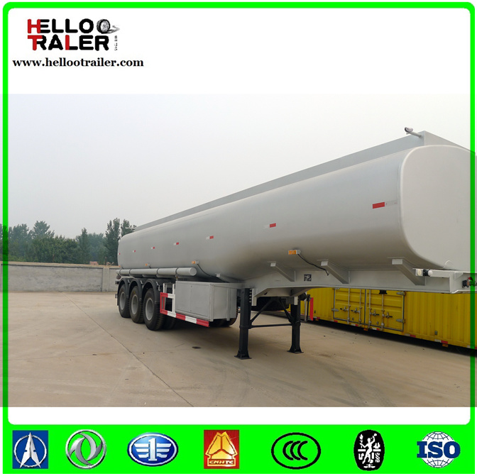 Stainless Steel Tri-Axle Oil Tanker Truck Trailer
