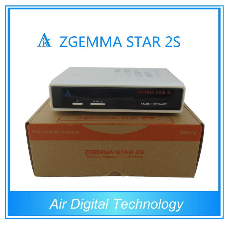 HD Satellite Receiver DVB-S2 Twin Tuner Sharing Zgemma-Star 2s Full HD Media Player