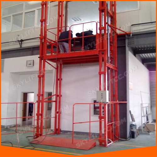 Hydraulic Vertical Freight Elevator with Ce