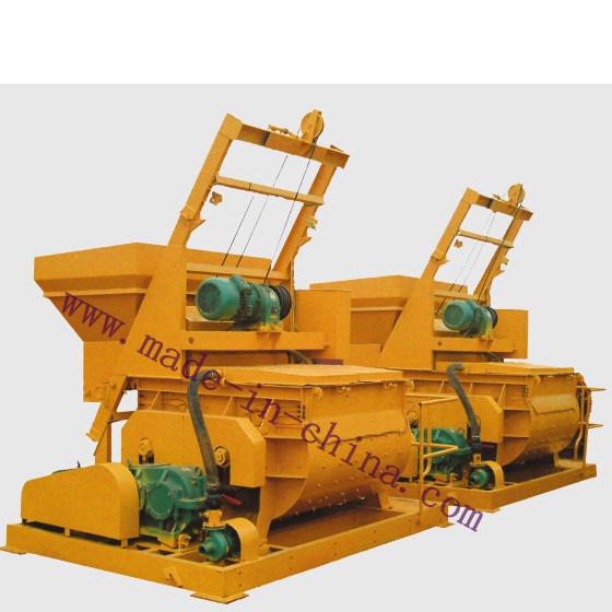 Js500 Double-Horizontal-Shaft Forced Type Concrete Mixer