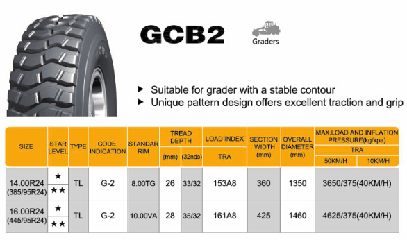 OTR Tire, off-The-Road Tire, Radial Tire Gcb2 14.00r24 16.00r24