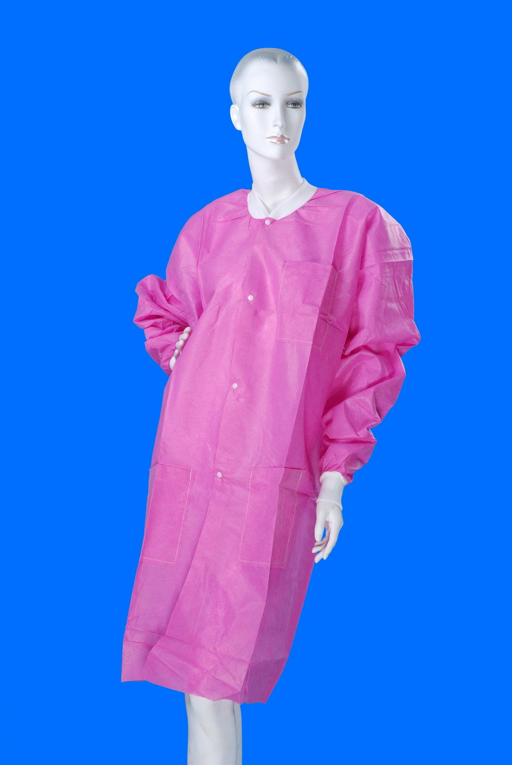 Disposable White Blue Pink Yellow Lab Coat