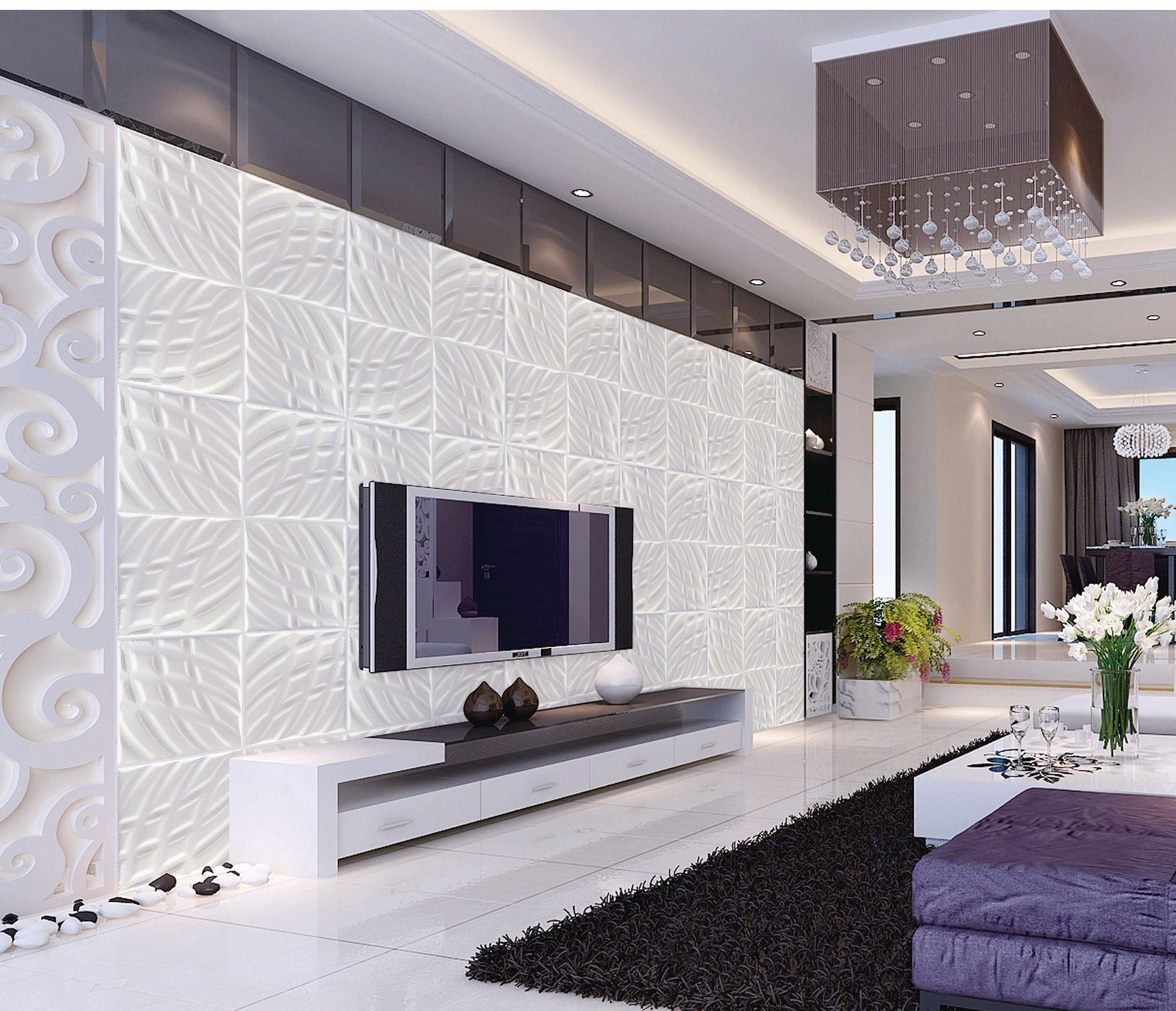 3D Leather Wall Panel 1045 for Wall Decoration
