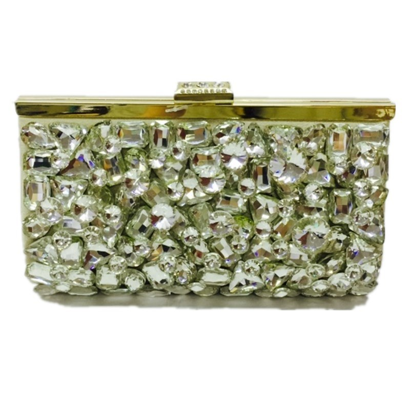Gold Ladies Handbag Crystal Fashion Eveningbag