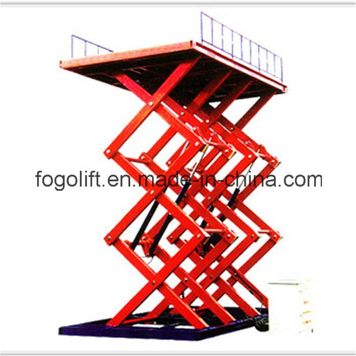 Heavy Duty Stationary Scissor Lift / Construction Machinery