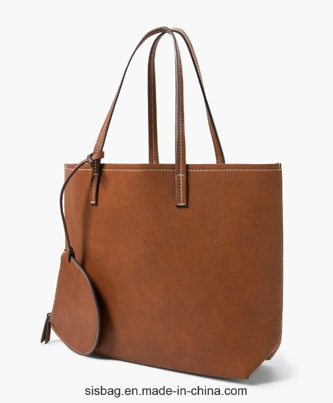 New Fashion Double Color Shoulder Bag PU Tote Bag