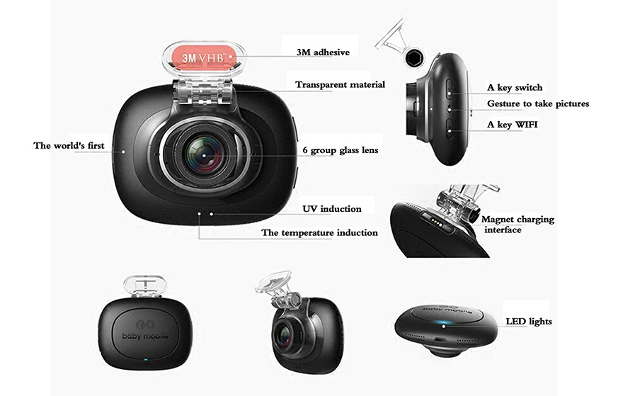 Factory Supply HD Car Camera Recorder DVR with G-Sensor, GPS, Loop Recording