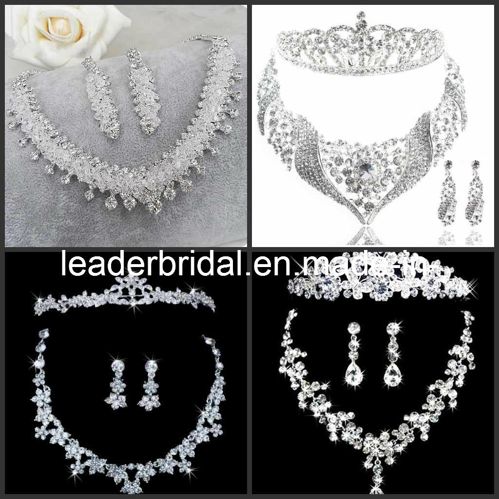 Bridal jewelry tiara - Bridal Accessories Jewellery Crystals Wedding Necklace Earings Crown Tiara