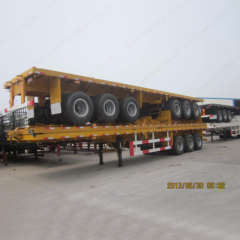 2016 Factory Price Tri-Axle Leaf Spring 60ton 40FT Container Semi Trailer