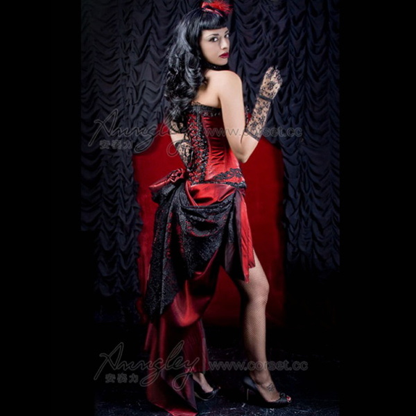 china custom burlesque dancing costumes corsets outfits
