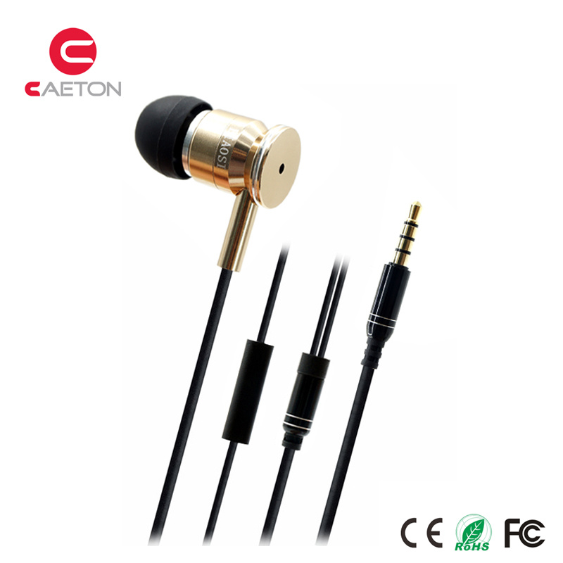 Sports Earbuds 3.5mm Metal Wired Earphone with OEM