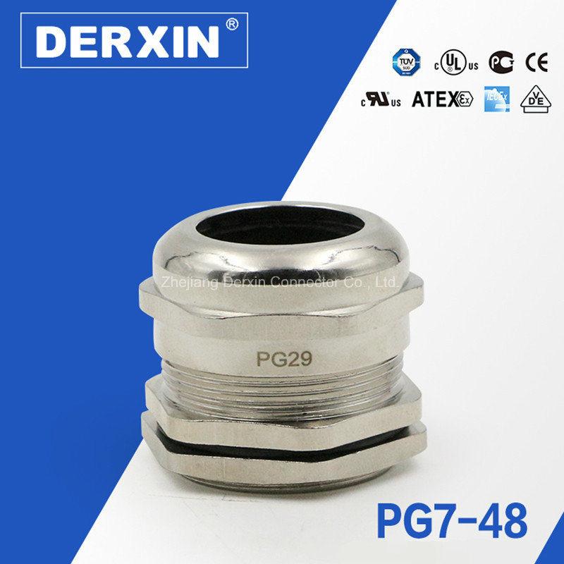 Pg7-Pg48 UL Manufacturer Waterproof Dustproof Metal Cable Gland