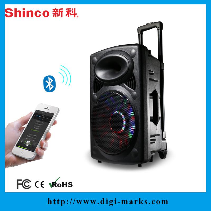 Top Sale Best Christmas Gifts Bluetooth Karaoke Leather Speaker