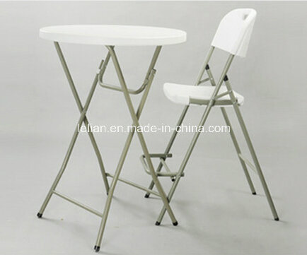 Outdoor Events Steel Frame Durable High Density HDPE Plastic Folding Table (LL-WST003)