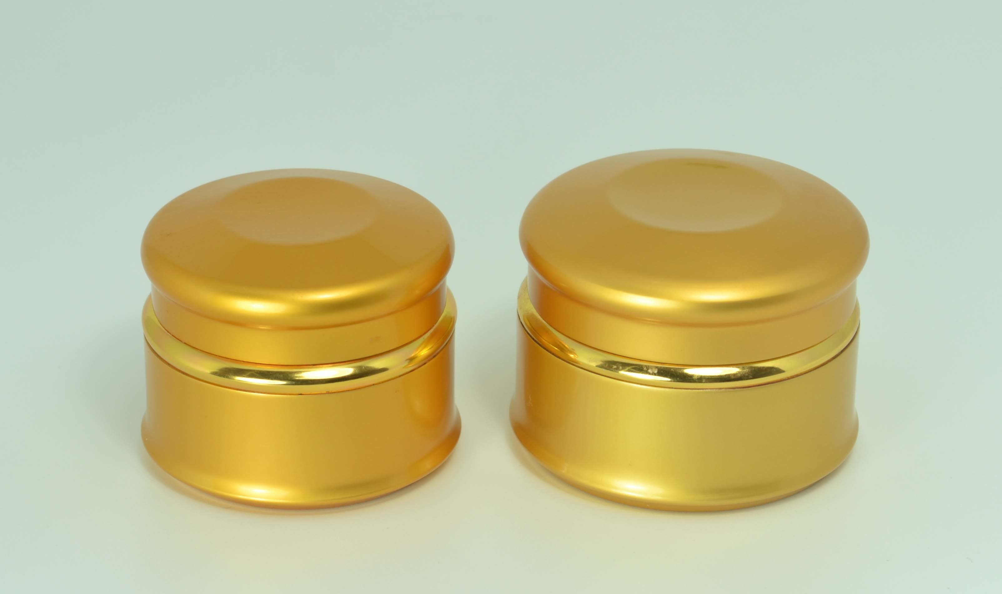 Gold Aluminum Cream Jar