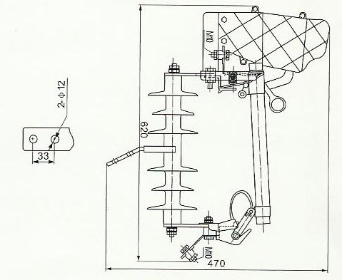 Drop Type Fuse Hrw11-200 - a