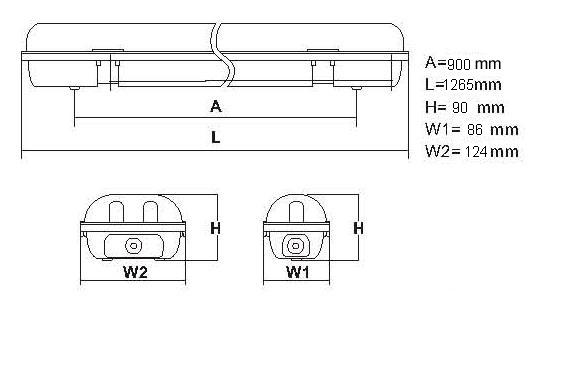 T8 IP65 Lighting Fixture (Yp6236t)