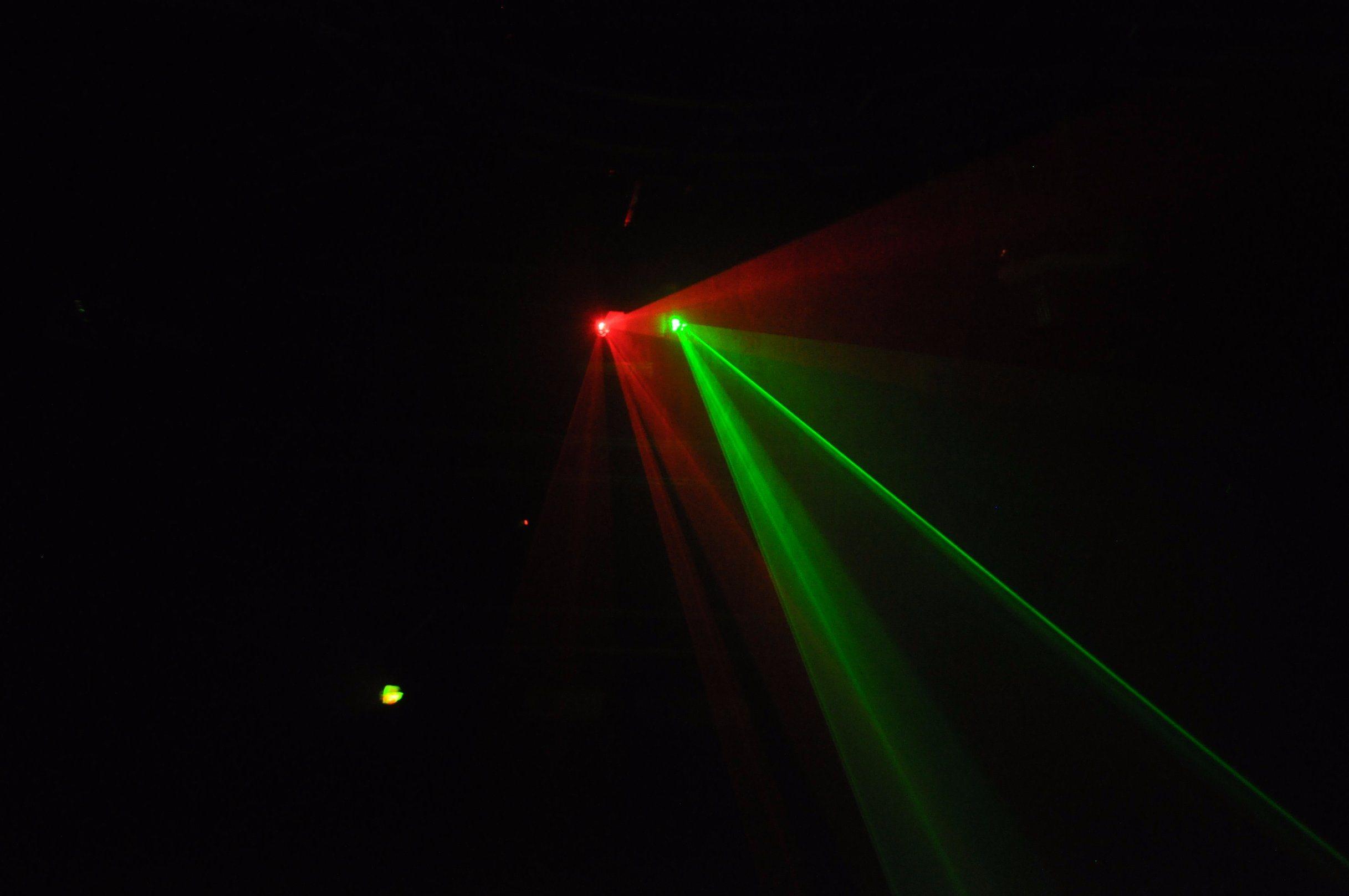 Professtional Double Head Red Green Laser Light