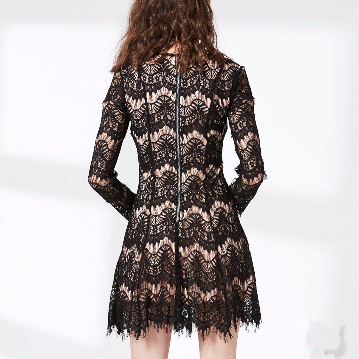 High Quality Women Bandage Bodycon Fashion Lace Dress