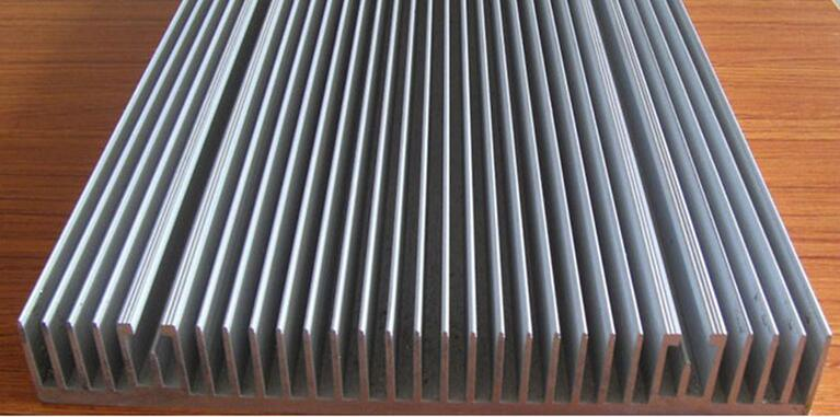 Customized 6000 Alloy Aluminium Extruded Radiator Heat Sink with Machining