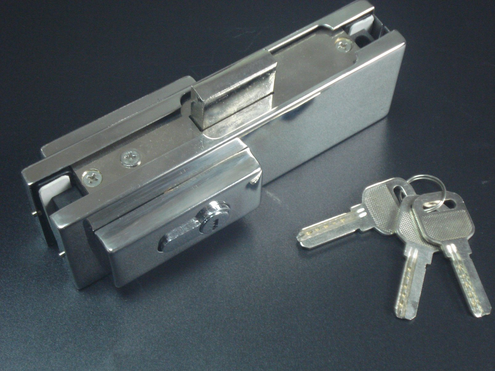 Ks-050 Aluminium Hinge Patch Fitting Glass Door Lock