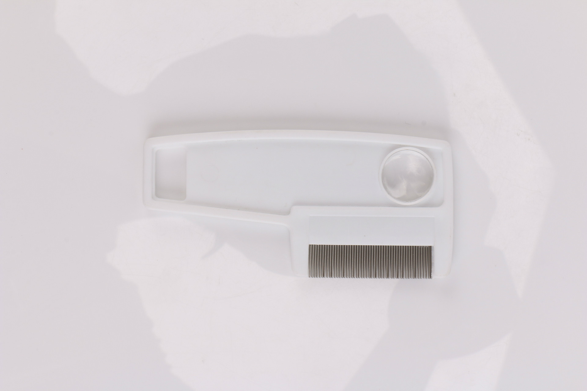White Pet Superdense Steel Comb