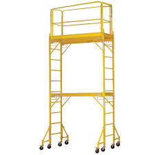 12FT 820lb. Capacity Multipurpose Steel Scaffold Tower