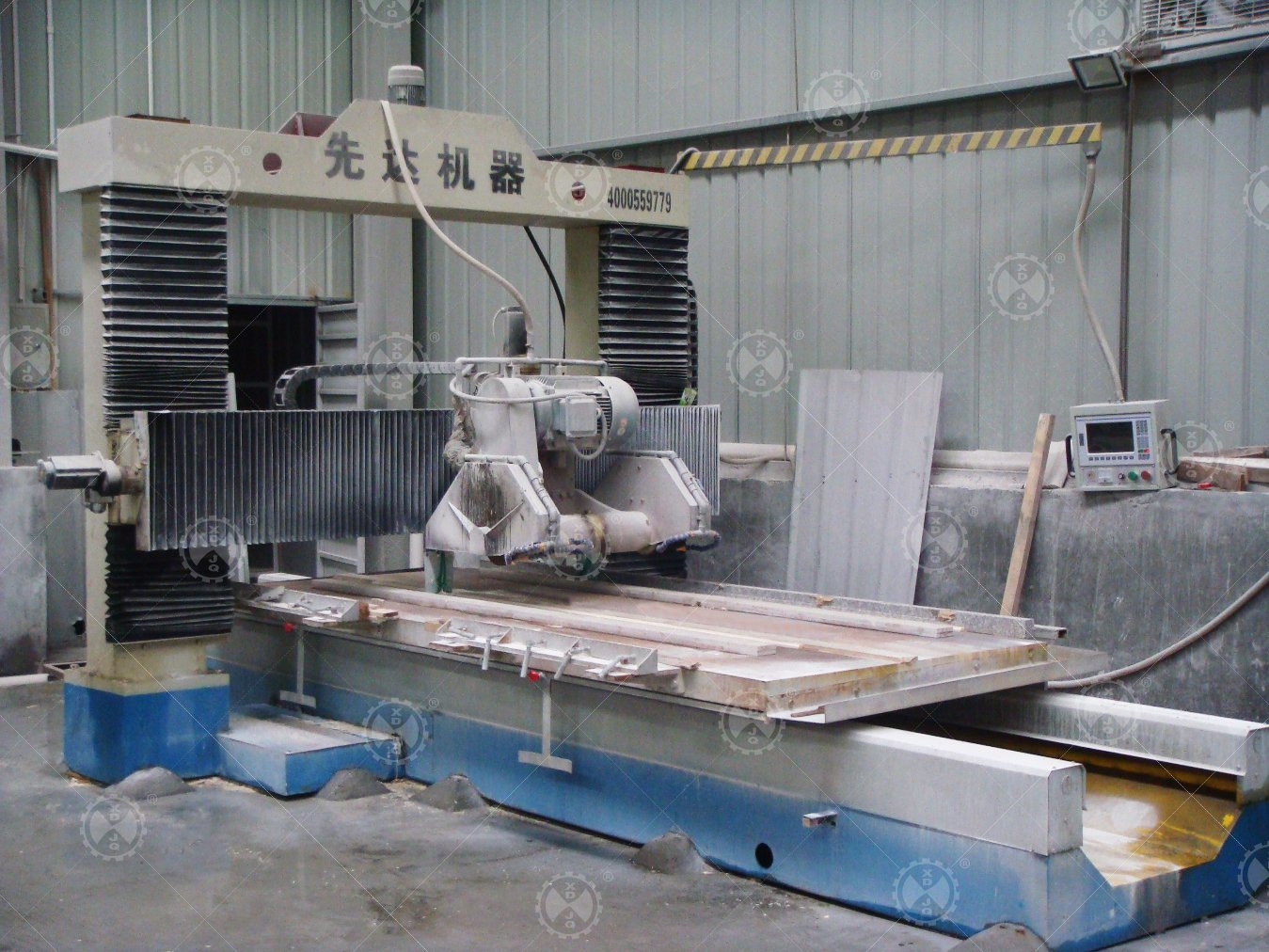 Scnfx-1800 CNC Automatic Gantry Stone Profiling Cutting Machine