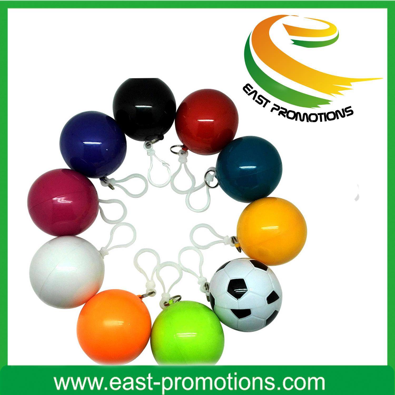 Plastic Raincoat in Ball Poncho Raincoat Balls for Sale
