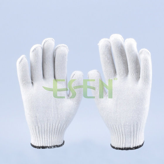 10 Gauge 35g-60g White Cotton Knitted Work Gloves