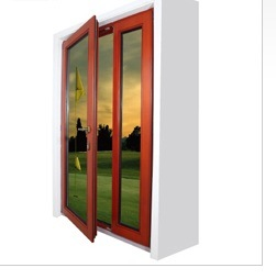 European Style Wood Casement Glass Windows, Facing/Outside/Vertical Hinged Open