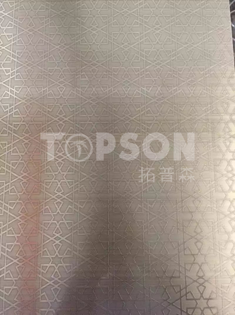 201 304 316 Decorative Stainless Steel Sheet with 8k Mirror Etched Antique Finish