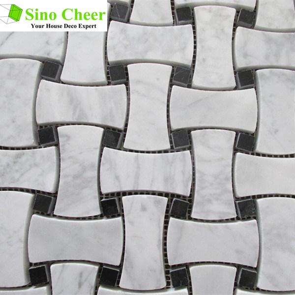 Strips Mosaic Tiles Mosaic Stone Tile Wilte Marble