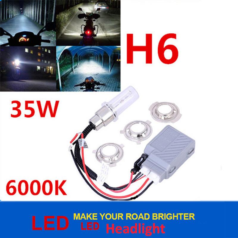 Error Canceller Super Bright 35W 6000k Slim Ballast H6 Motorcycle Xenon HID Kit
