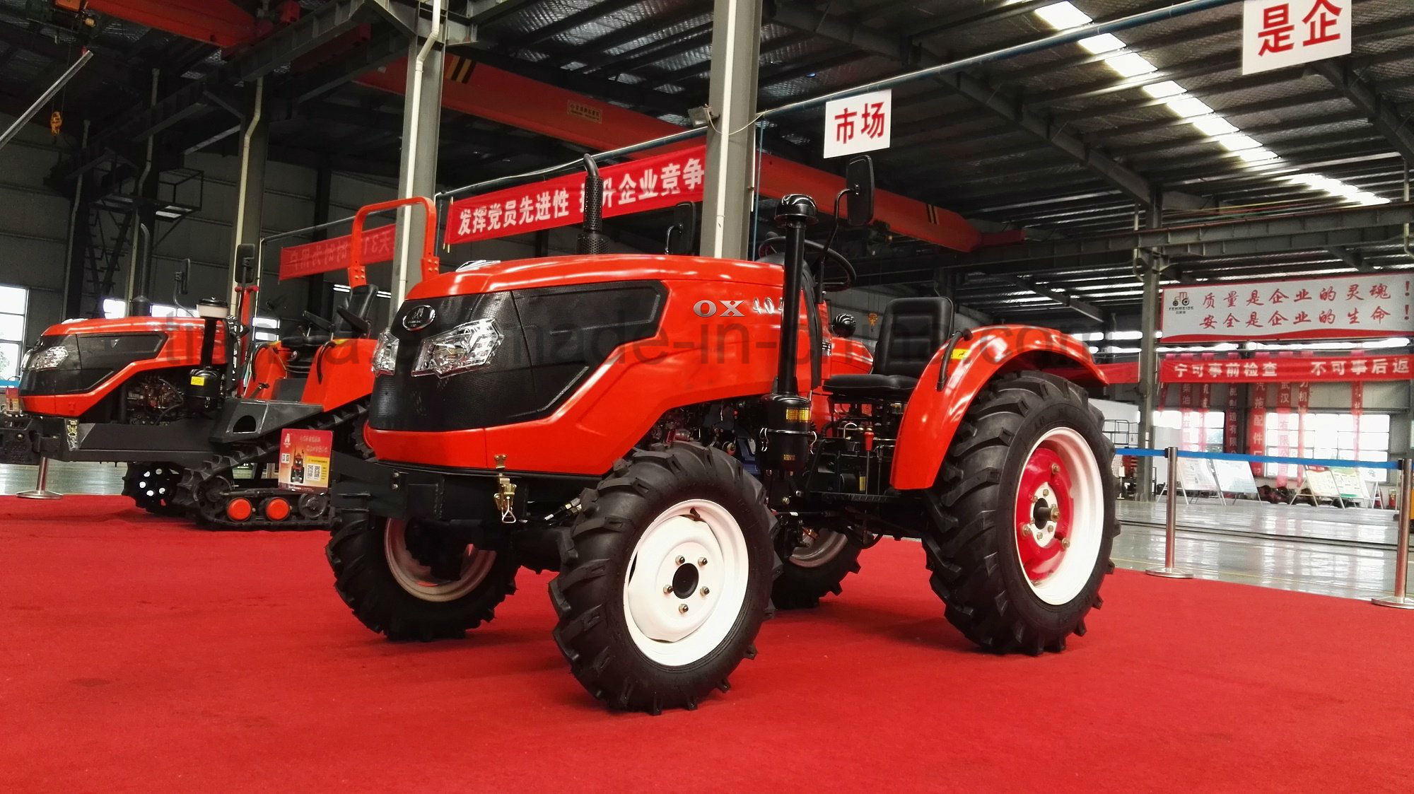 New 45HP Four-Wheel Driving Wheel Tractor with Diesel Engine of Kubota Type (OX454)