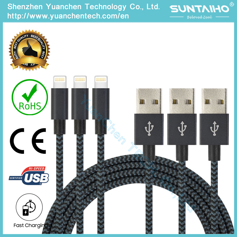 High Quality Manufacture Data Charging Cable USB Cord for iPhone 5/6/7