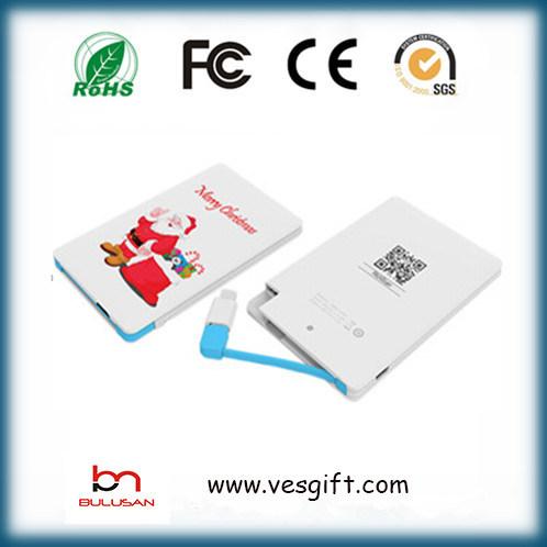 Slim Credit Card 2000mAh Portable Mobile Phone Battery