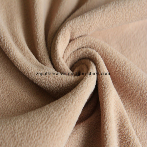Super Soft Fleece Fabric with Antipilling in Beige Color
